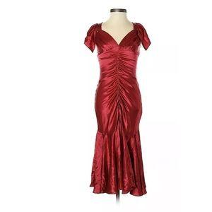vintage silk Betsey Johnson Dress Silk Red wriggle